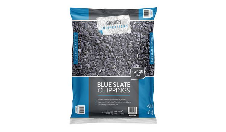 Inspirations Blue Slate Chippings - 20kg