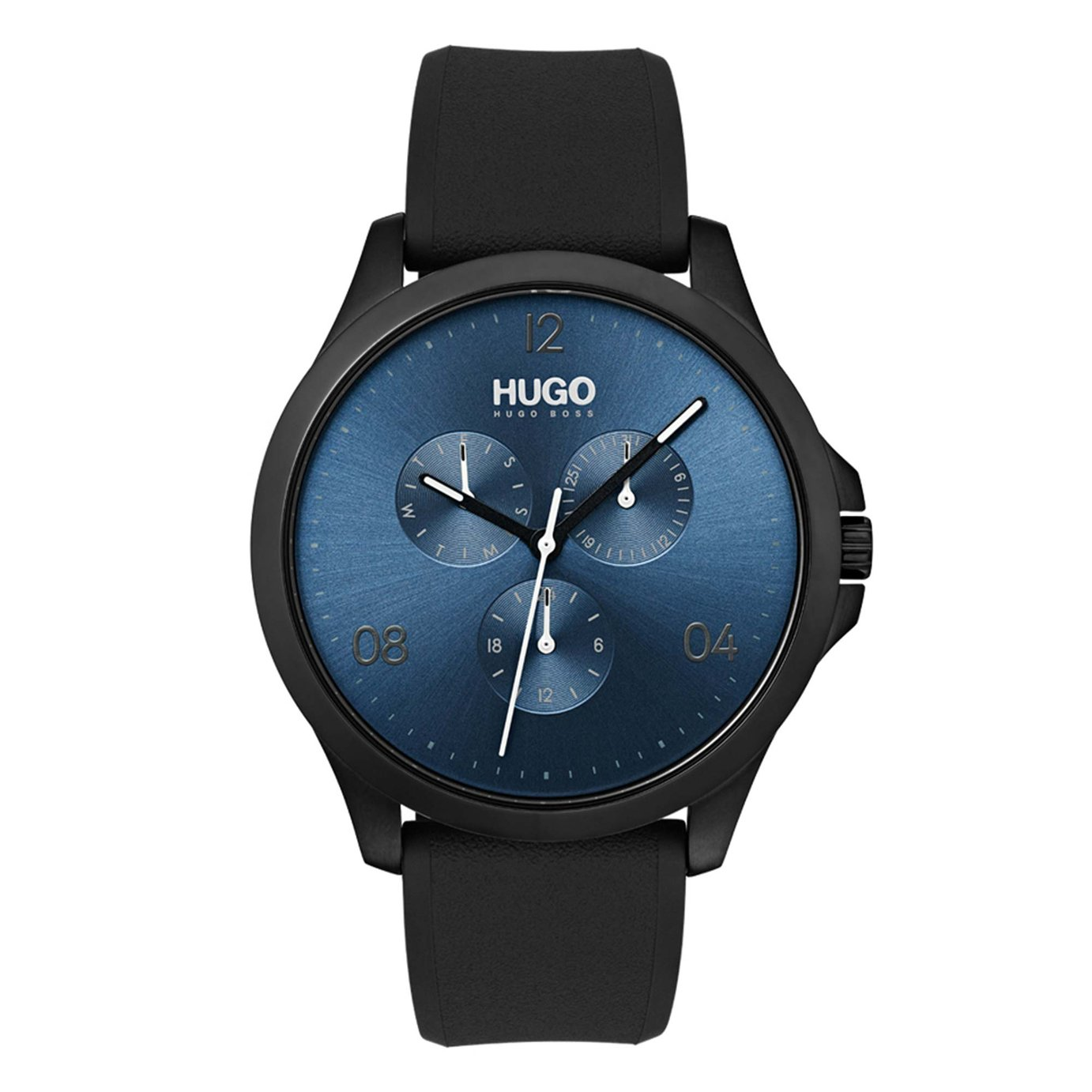 HUGO Men's Chronograph Black Silicone Strap Watch