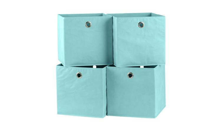 Argos Home Set of 4 Squares Boxes - Blue