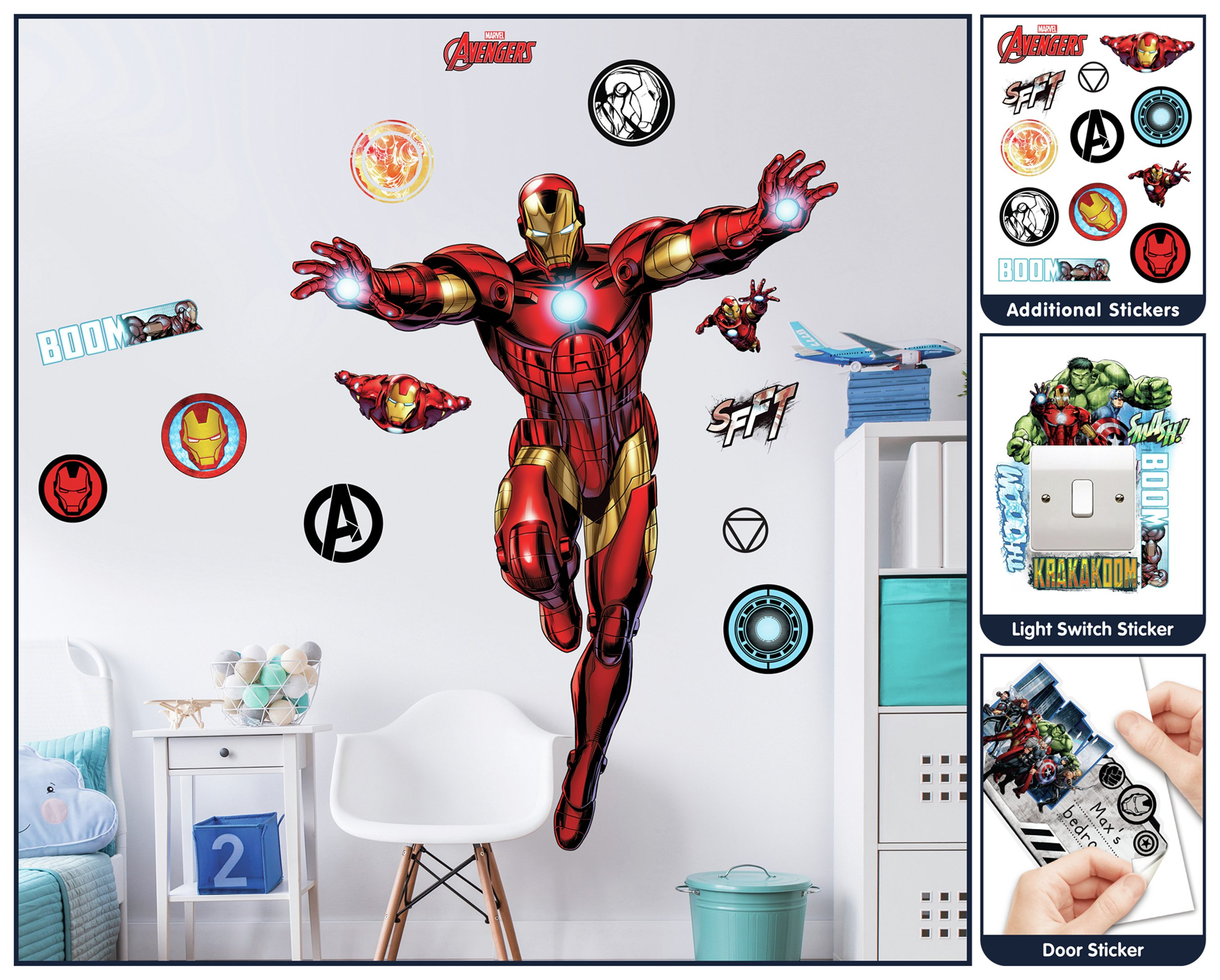 Walltastic Iron Man Large Character Sticker Part 69