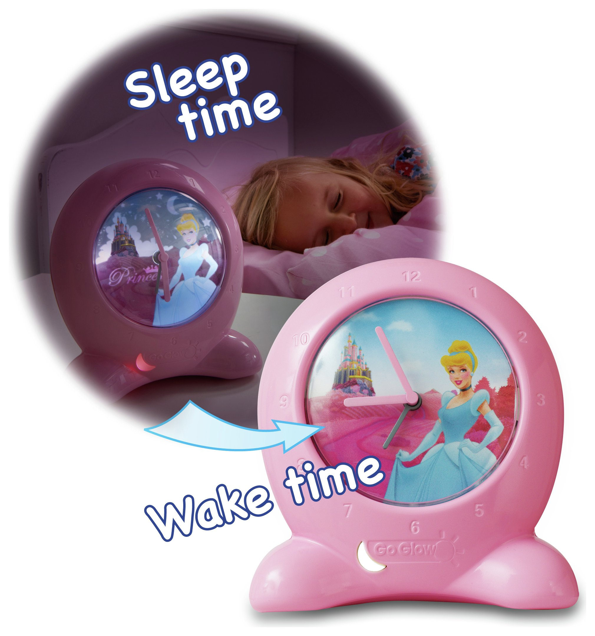 disney  princess get up n glow nightlight and  bed time trainer