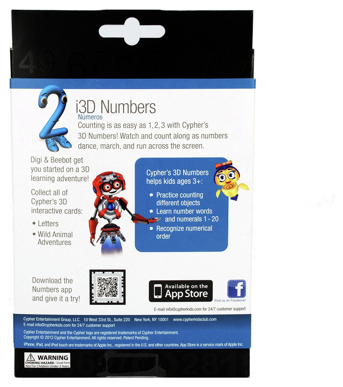 Image of Cypher i3D Interactive Number Cards - iPad, iPod & iPhone.