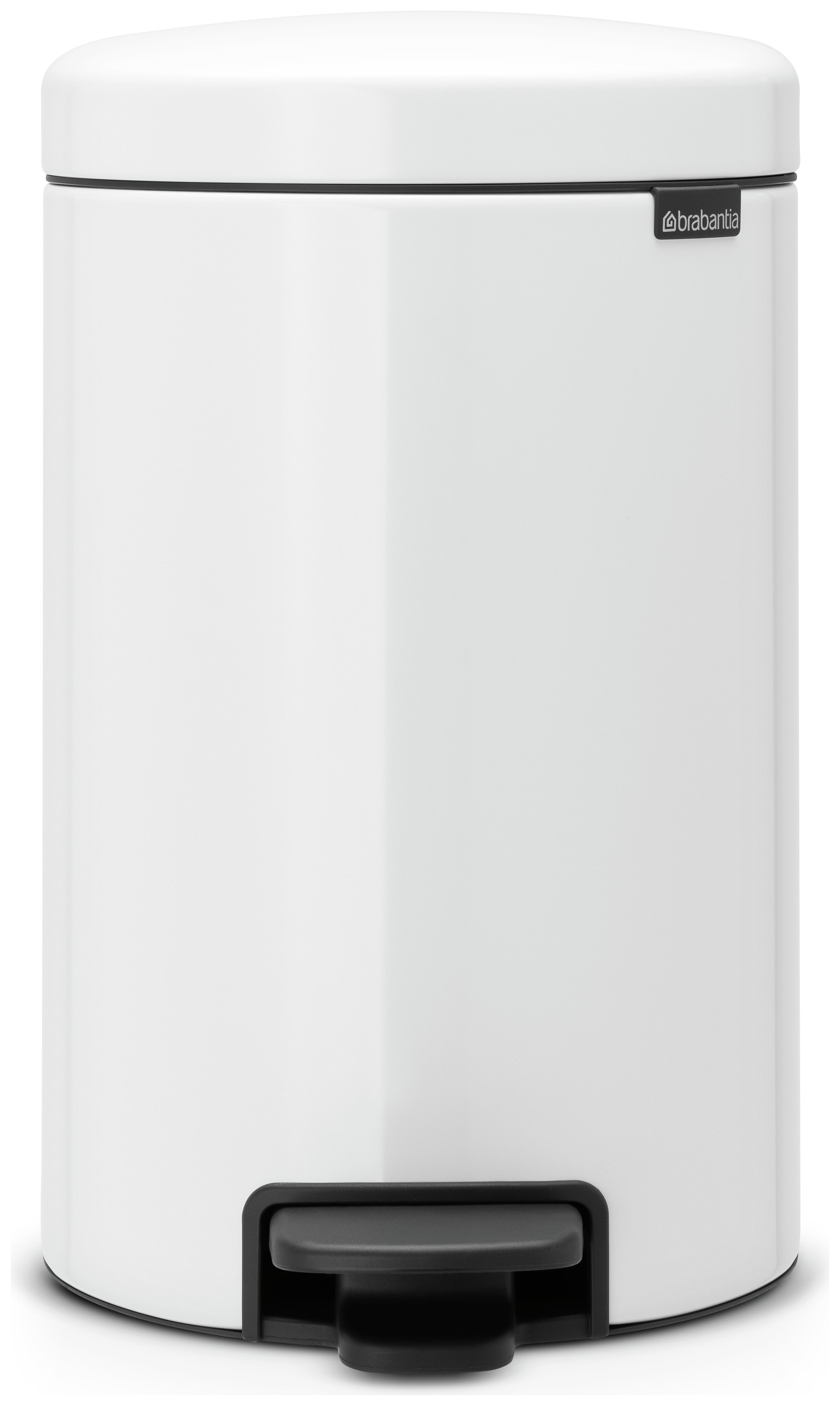 White Kitchen Bin buy brabantia newlcon 12 litre pedal bin - white at argos.co.uk