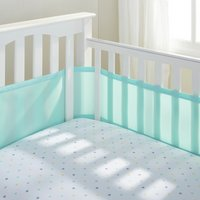 BreathableBaby - 4 Sided - Cot Liner - Aqua Mist