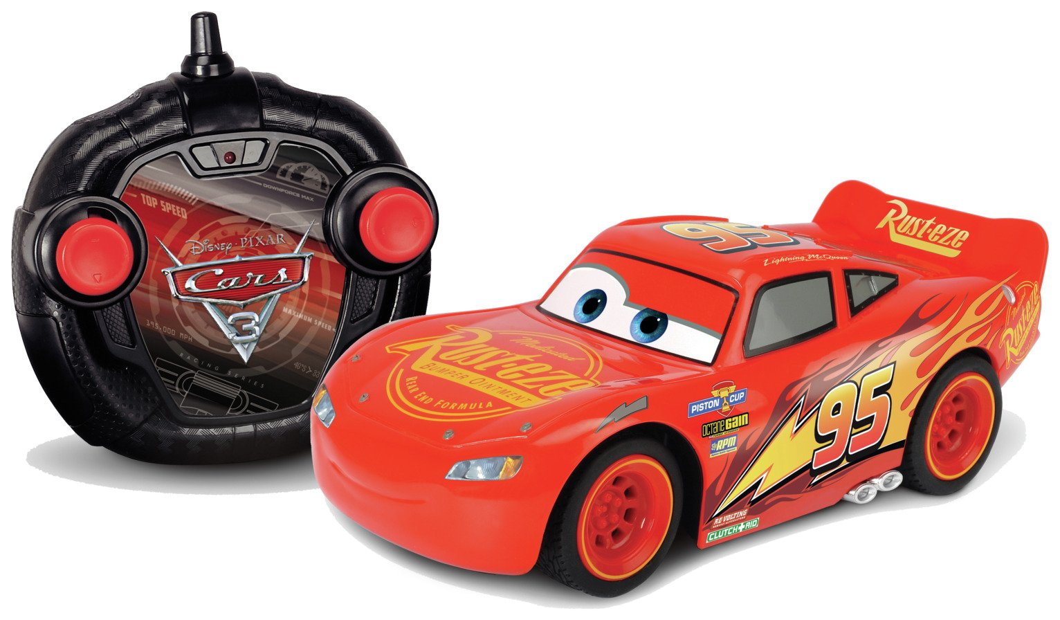 Image of Cars 3 Lightning McQueen RC Turbo Racer Car 1:24