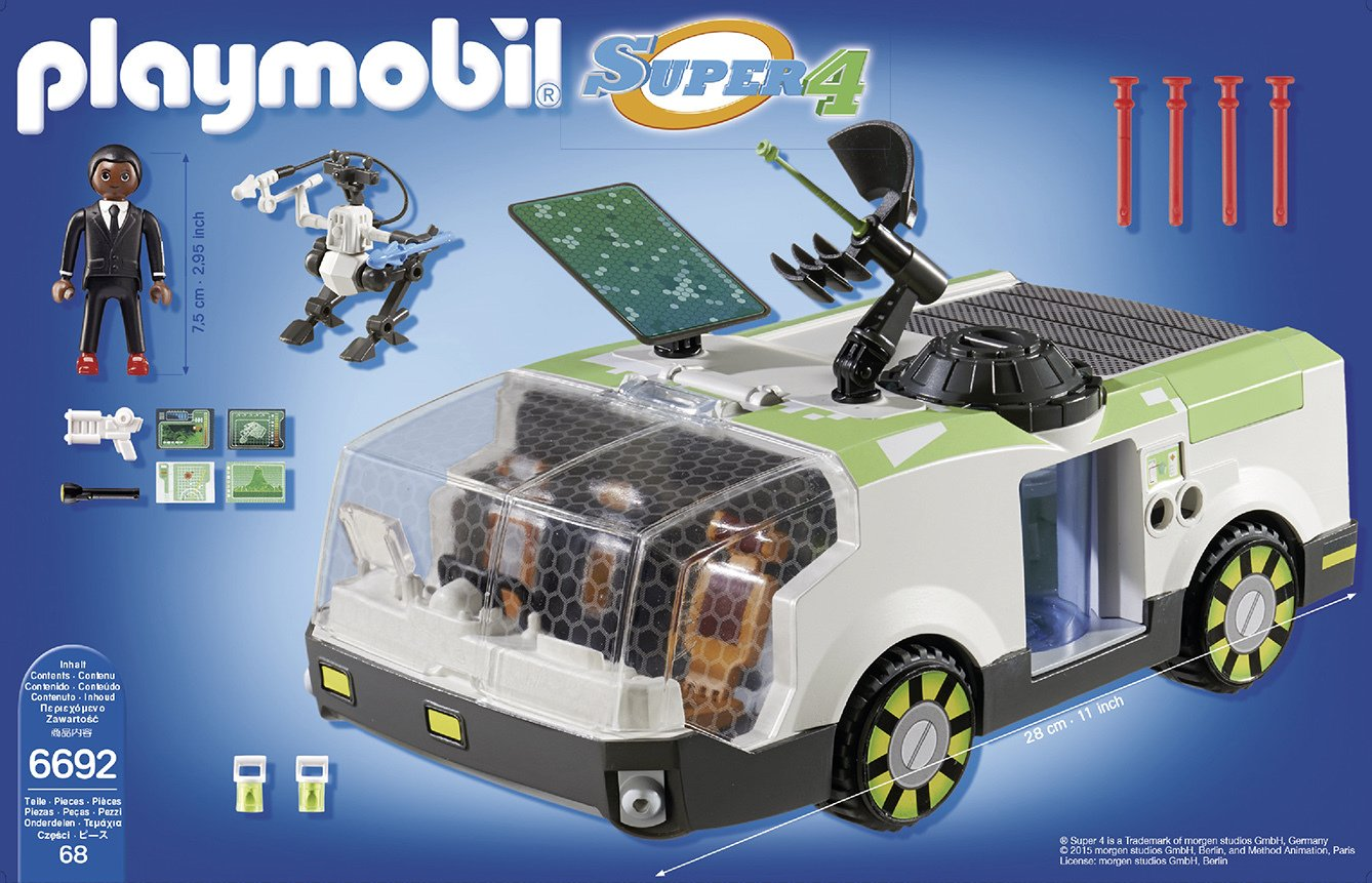 Playmobil 6692 Super 4 Techno Chameleon Vehicle.