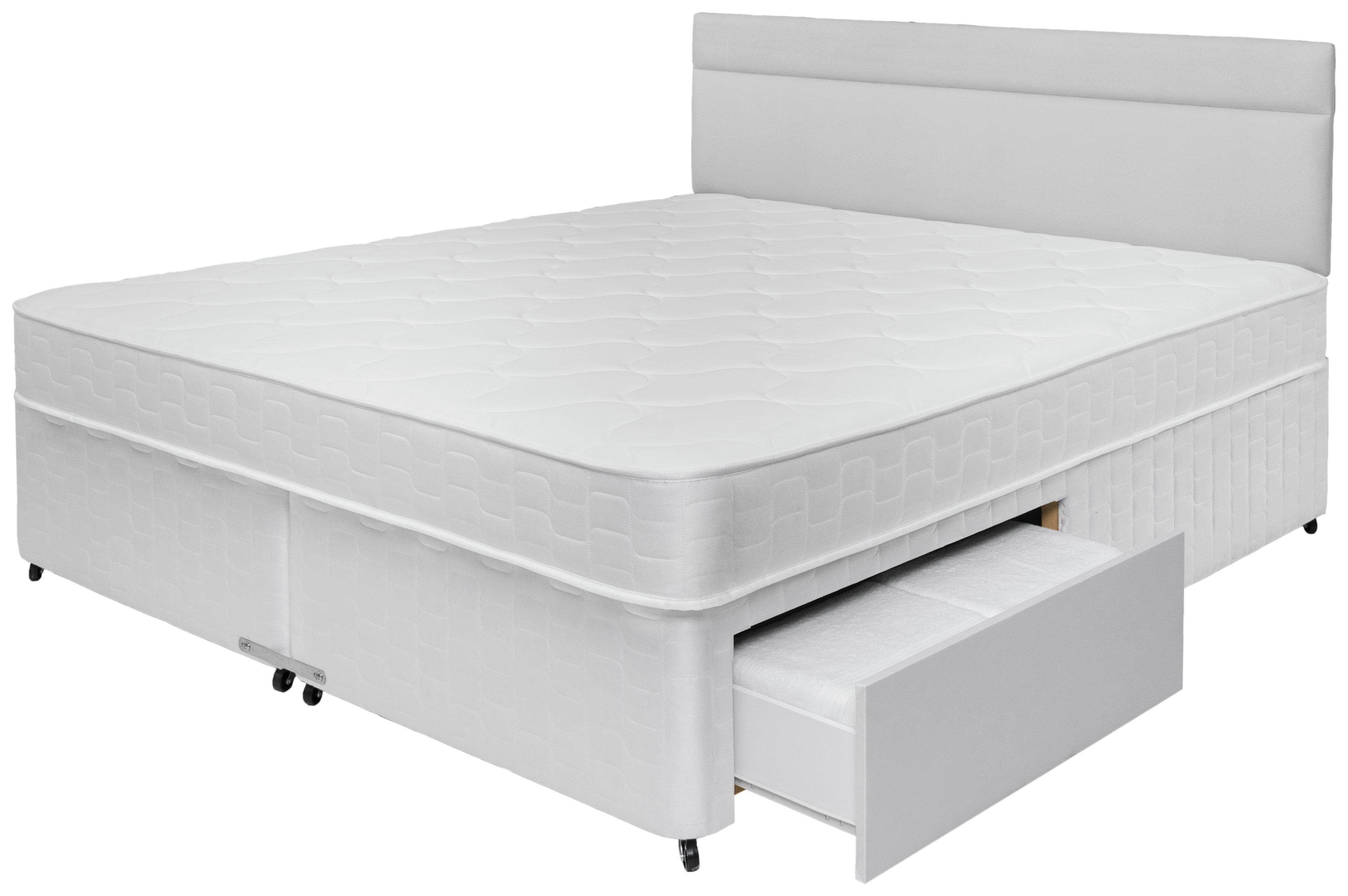 Airsprung royston memory foam 4 drawer divan superking for 4 drawer divan