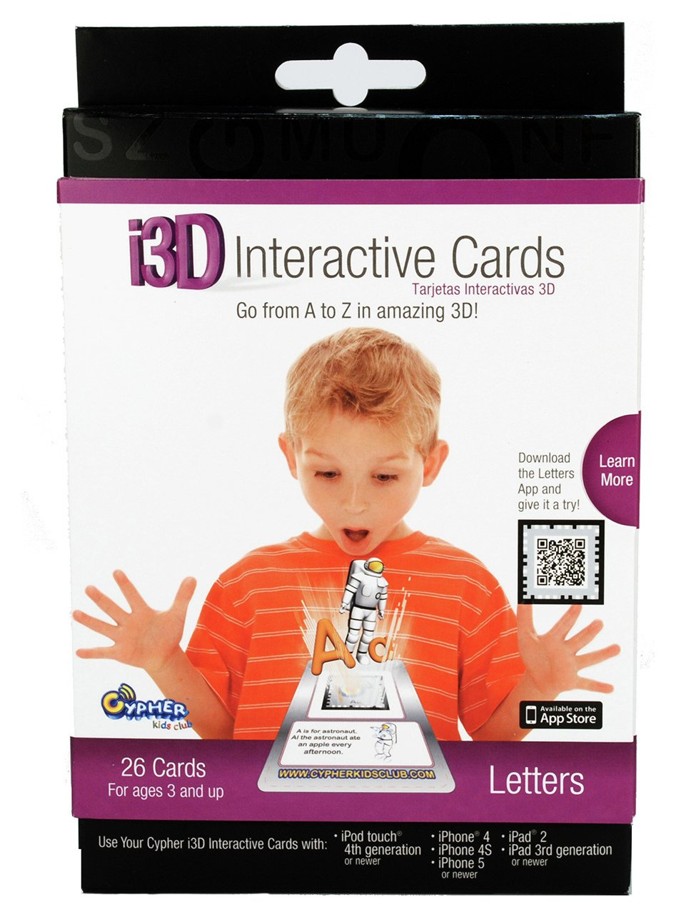 Image of Cypher i3D Interactive Letter Cards - iPad, iPod & iPhone.