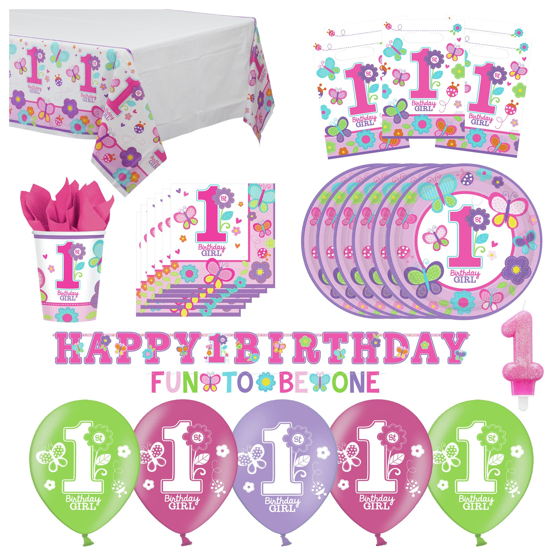 Compare retail prices of 1st Birthday Party Pack Pink to get the best deal online