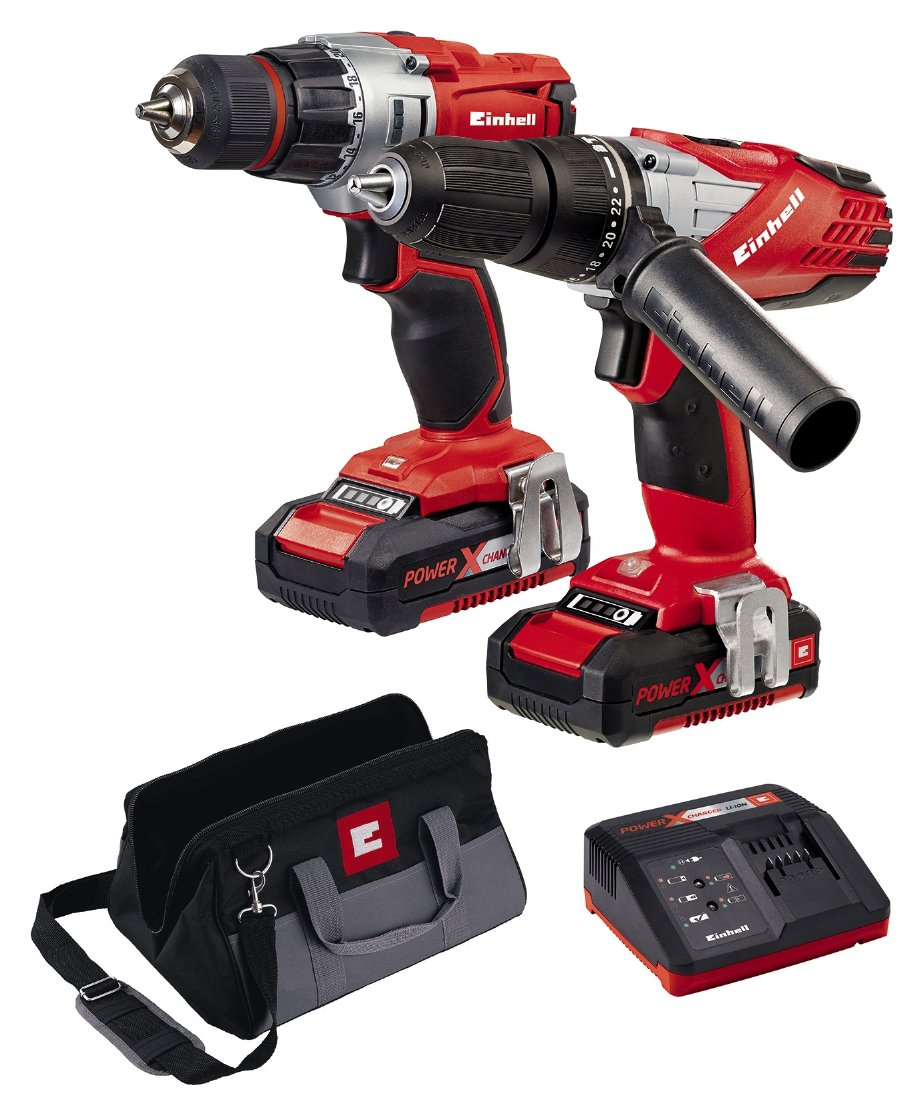 einhell power x change 18v li ion combi drill kit. Black Bedroom Furniture Sets. Home Design Ideas