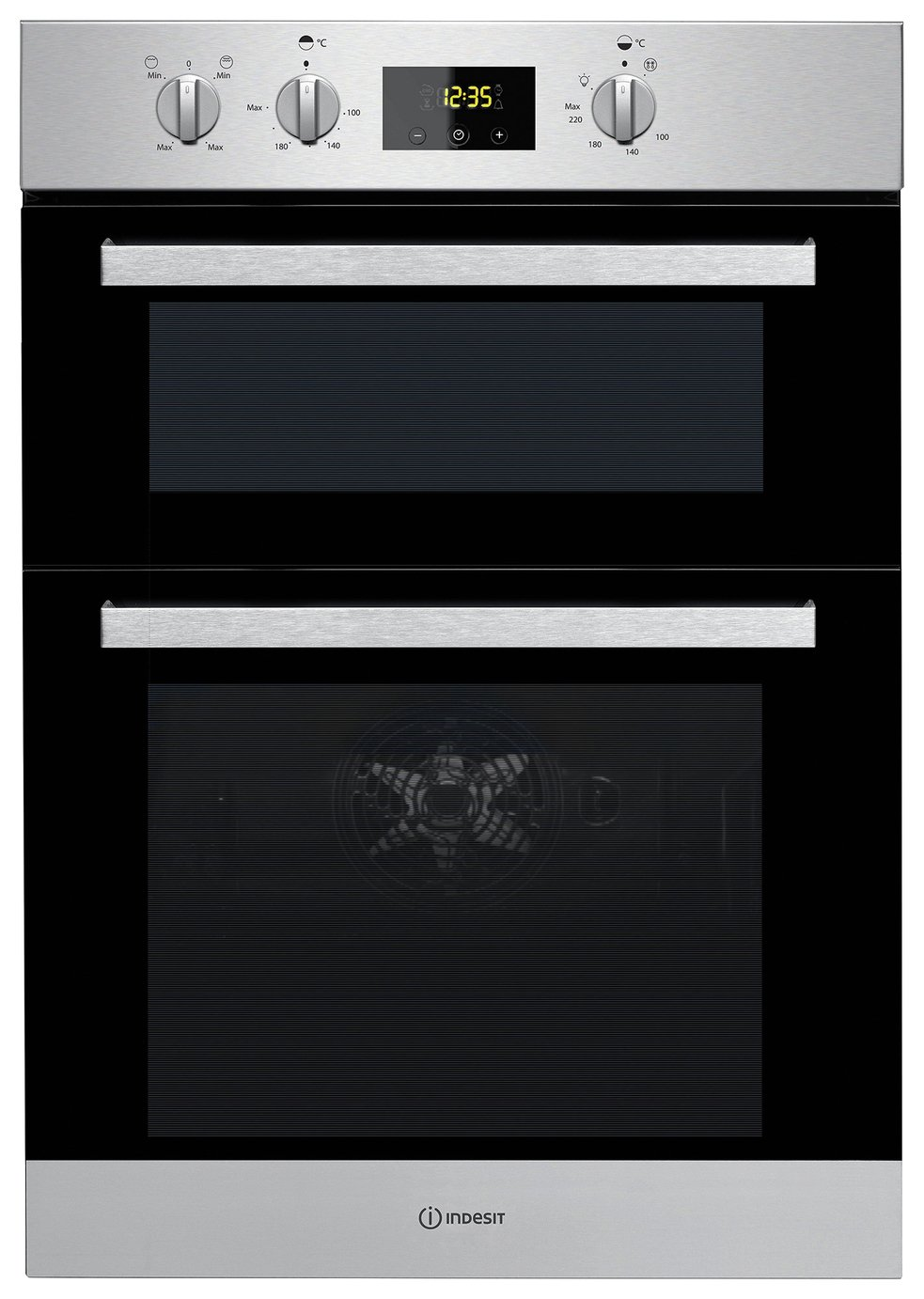 Indesit - IDD6340IX - Double Oven - Stainless Steel