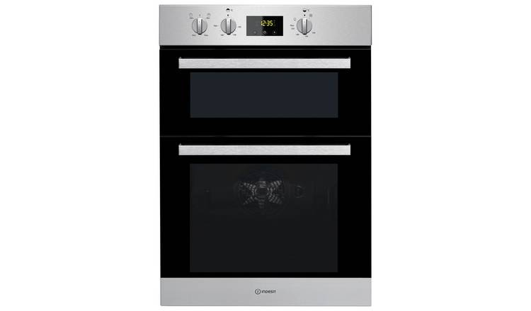 Indesit IDD6340IX Built In Double Electric Oven - S/Steel