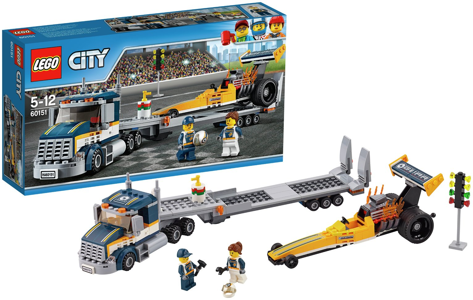 LEGO City Dragster Transporter - 60151.