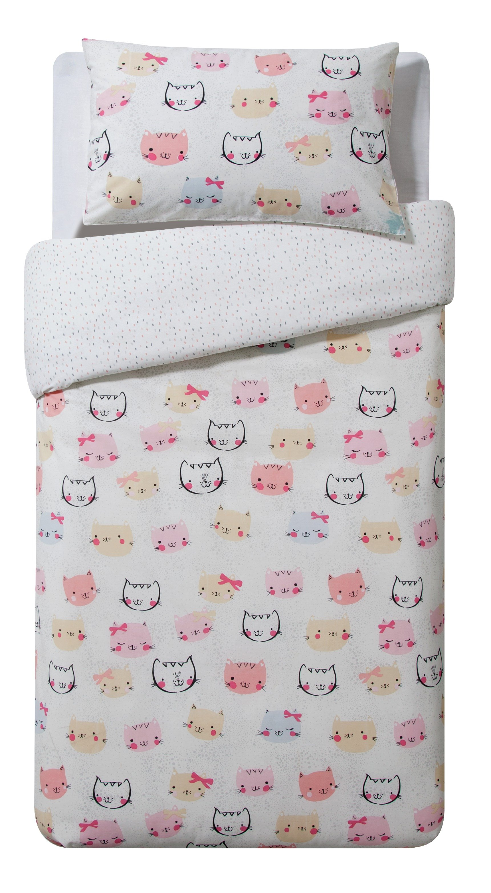 collection cute kitty cotton rich bedding set  single