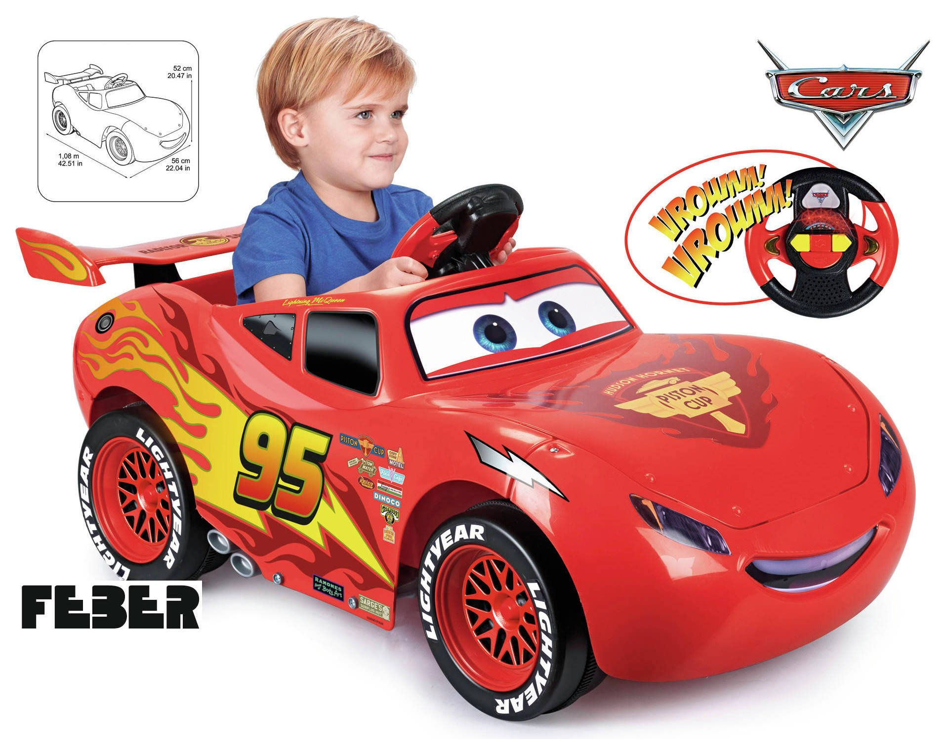 Image of Disney Cars 3 6v McQueen Powered Car