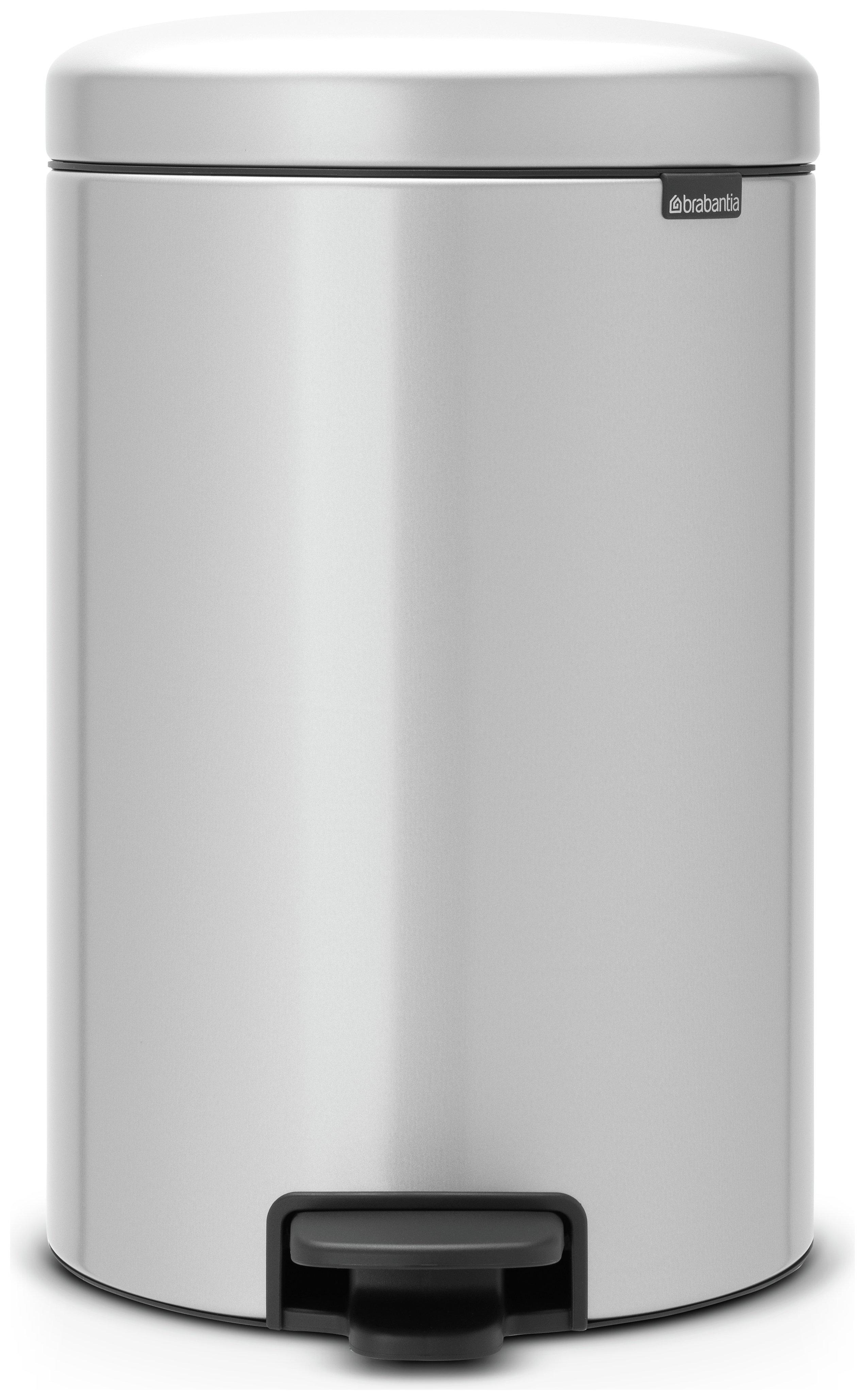 Brabantia newIcon 20 Litre Pedal Bin - Metallic Grey.