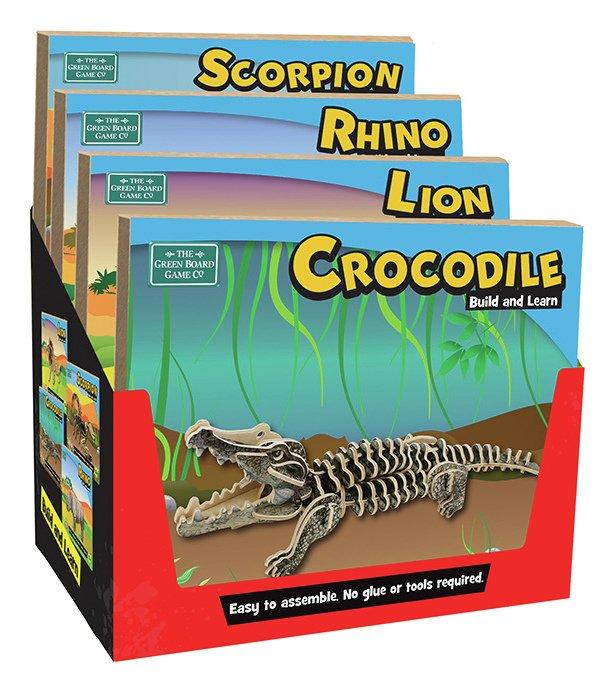 Image of Build Learn Lion Scorpio Rhino Crocodile.