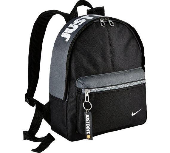 00c70a12c97 Buy Nike Kids Mini Backpack - Black   Kids luggage   Argos