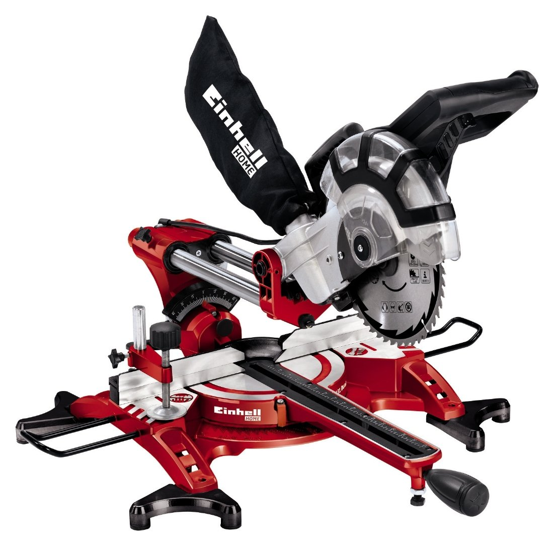 Image of Einhell 1800W 210mm (8 1/4) Double Bevel Mitre Saw.