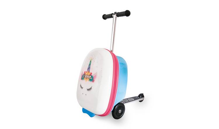 Flyte Chloe the Unicorn 3 Wheel Soft Scooter Suitcase