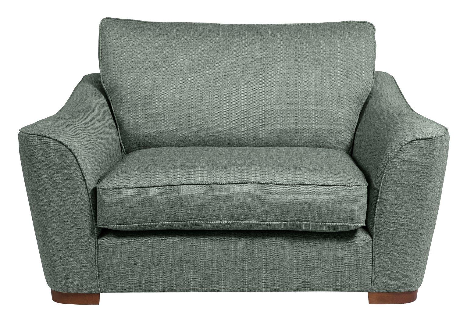 Argos Home Lotus Fabric Cuddle Chair - Seaglass