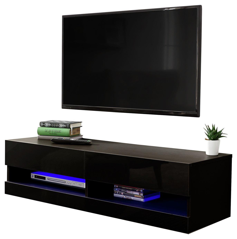 Galicia 120cm LED Wall TV Unit - Black