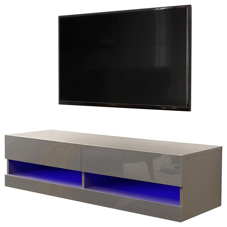 Galicia 120cm LED Wall TV Unit - Grey