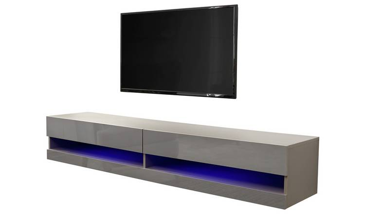 Galicia 180cm LED Wall TV Unit - Grey
