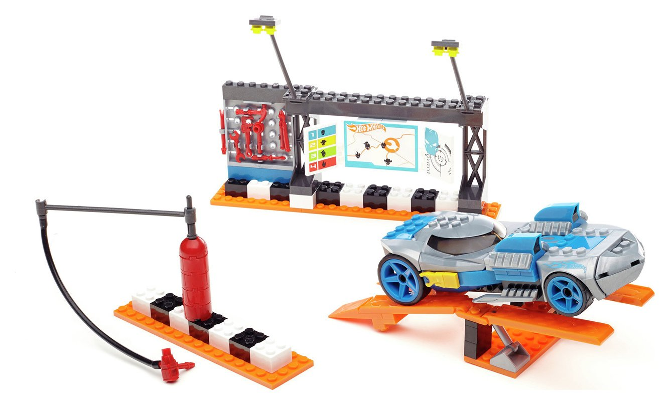 Mega Bloks Hot Wheels Speed Race Pit Stop.