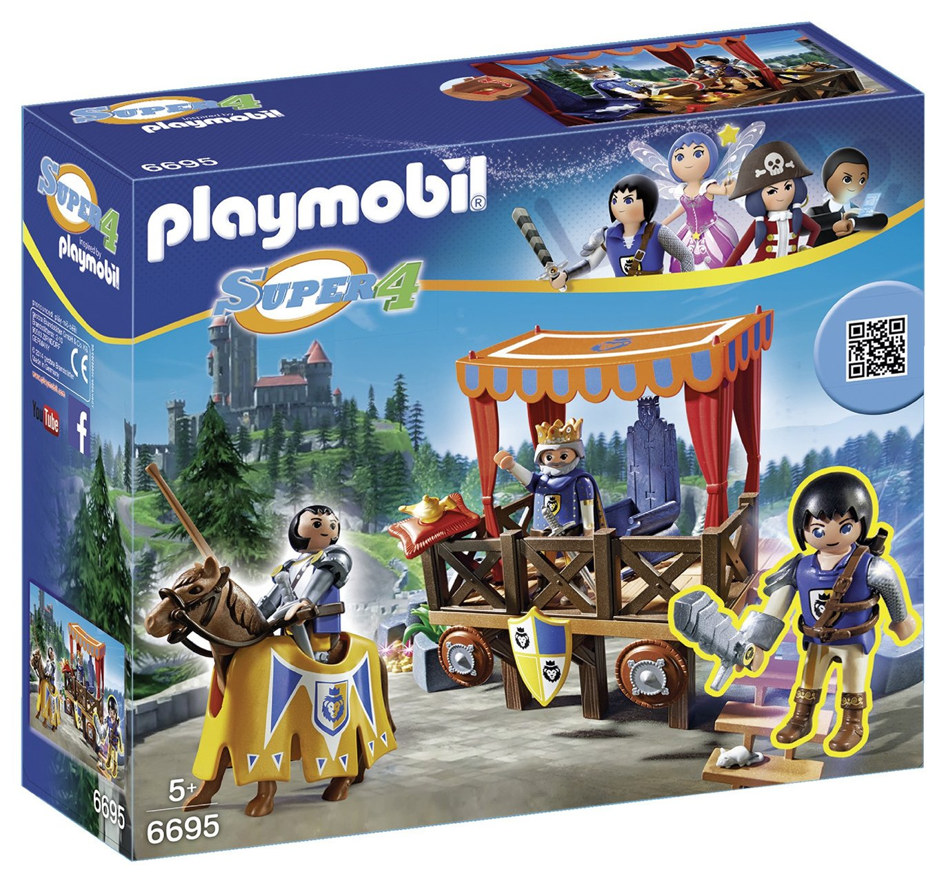 Playmobil 6695 Super 4 Royal Tribune With Alex.