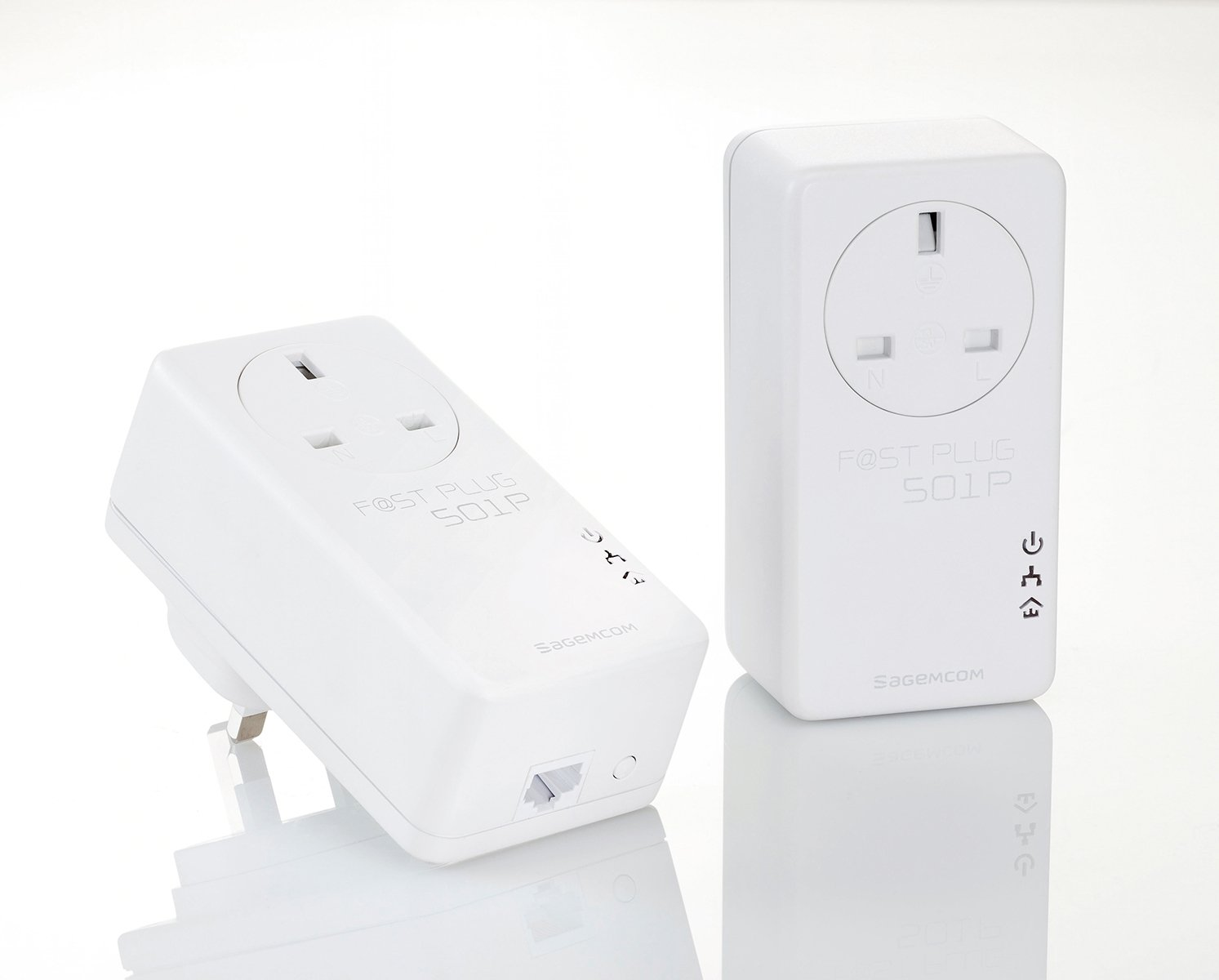 Sagemcom Fastplug 501p 1-Port Powerline Duo w/ Pass-Through.