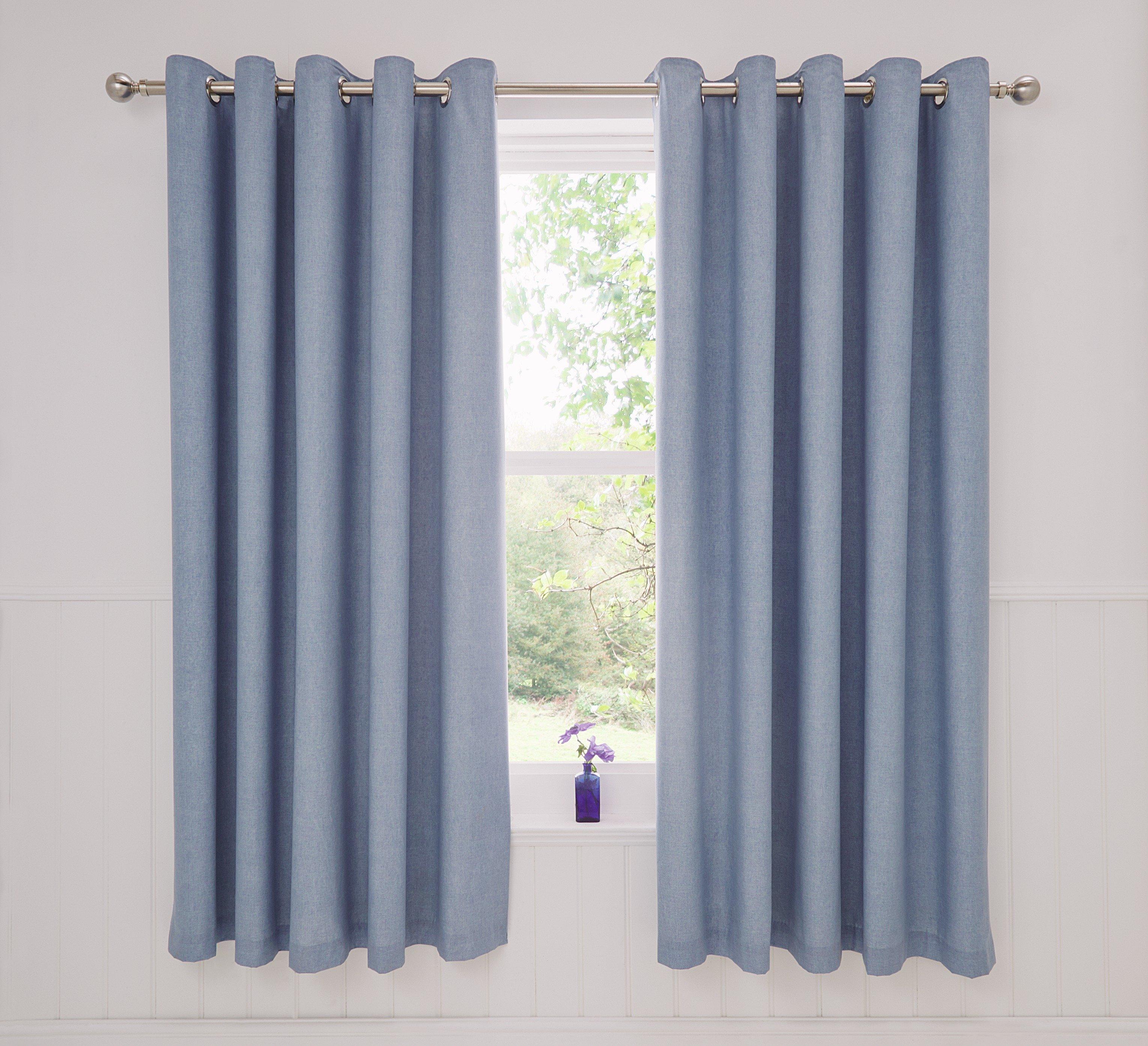 Dreams N Drapes Rathmoore Lined Curtains - 168x183cm - Blue.