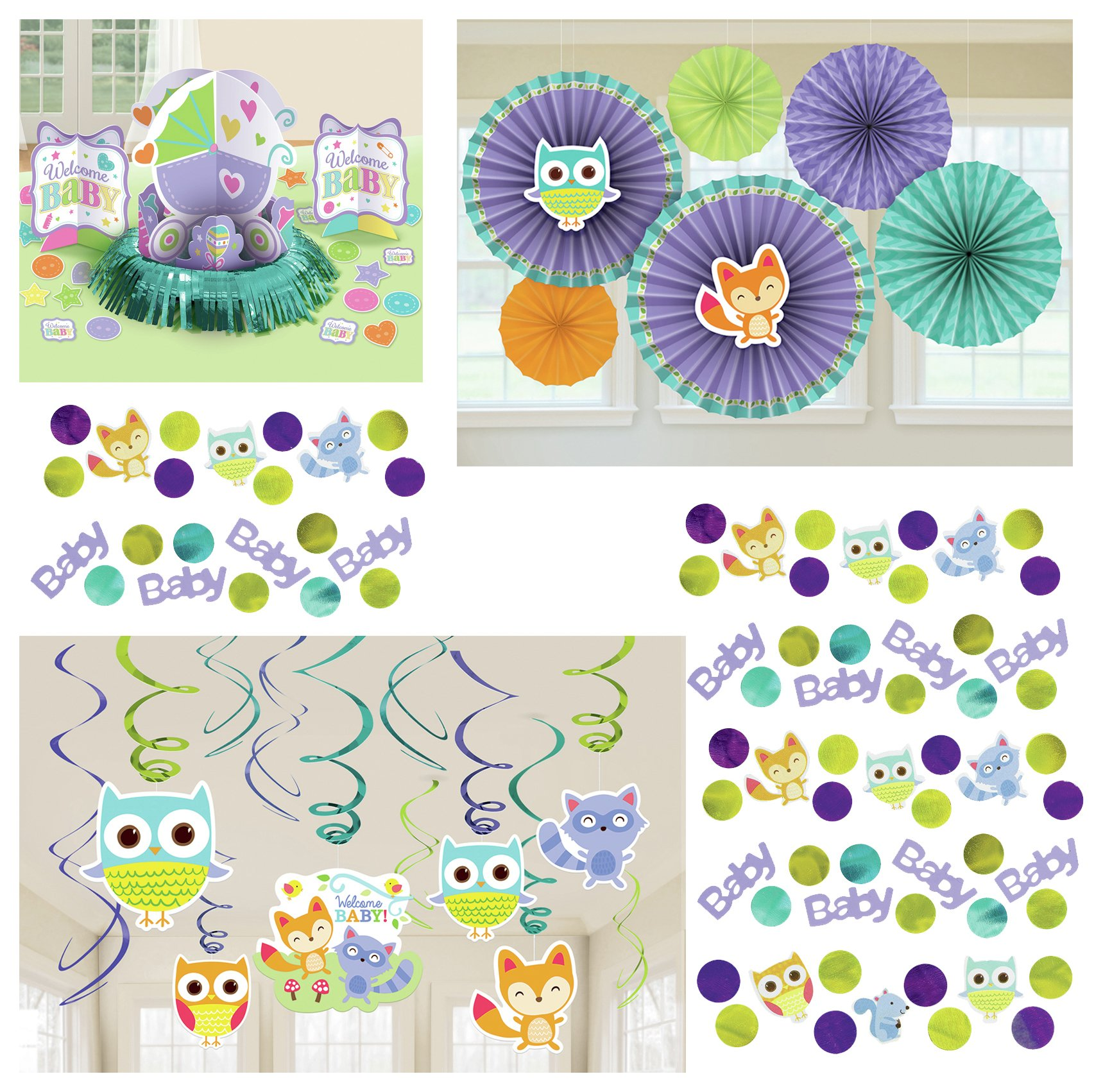 Image of Baby Shower Woodland Decorating Accessory Pack.