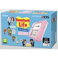 Nintendo - 2DS Pink & White Console with Tomodachi Life Bundle