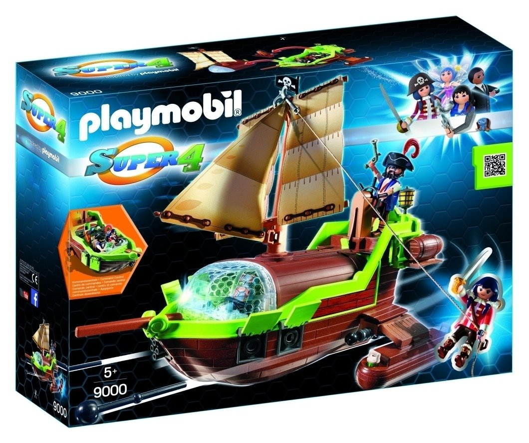 Playmobil 9000 Super 4 Pirate Chameleon With Ruby.