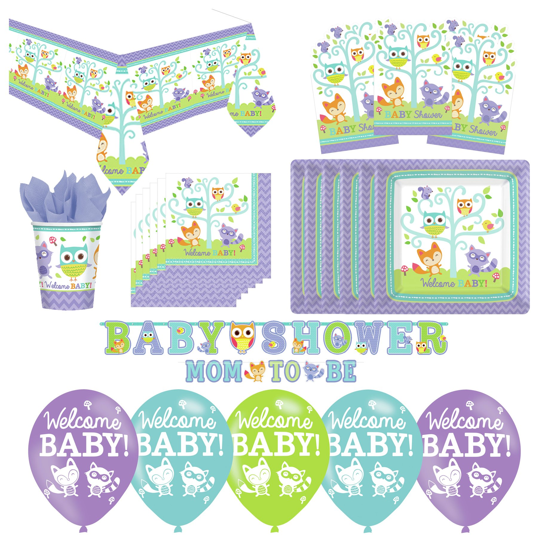 Image of Baby Shower Woodland Party Pack.