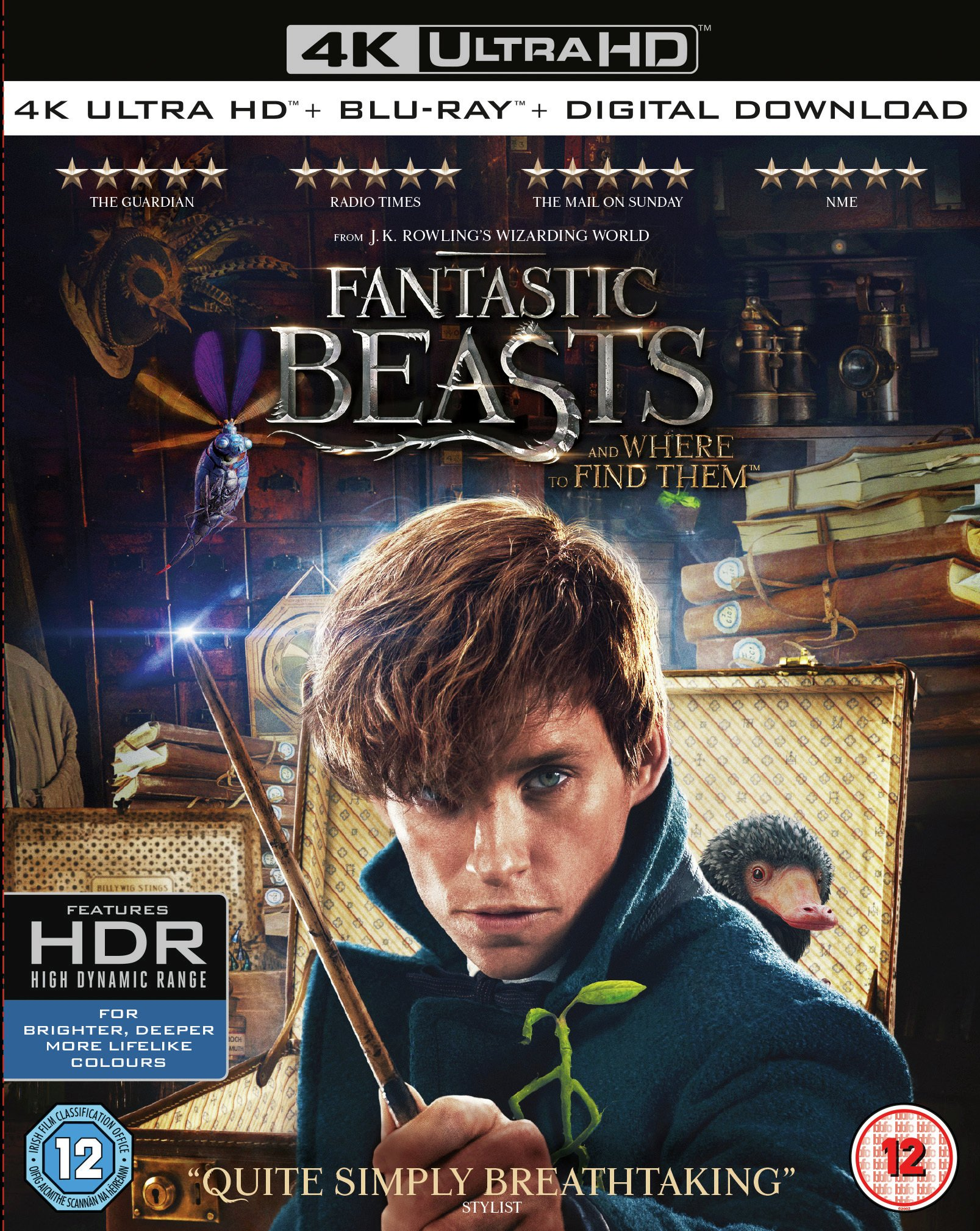 Fantastic Beasts and Where to Find Them 4K DVD.