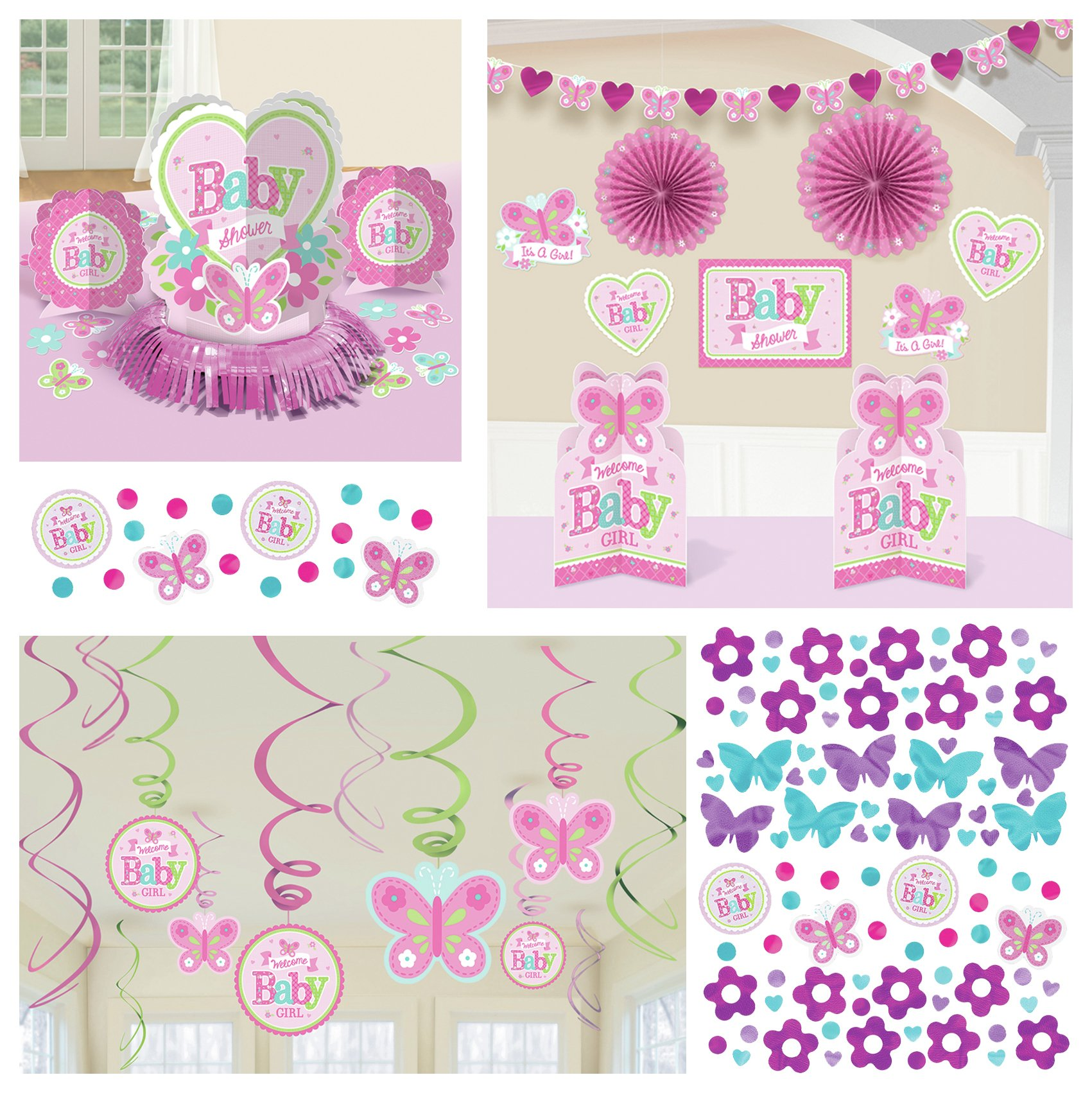 Image of Baby Shower Decorating Accessory Pack Pink