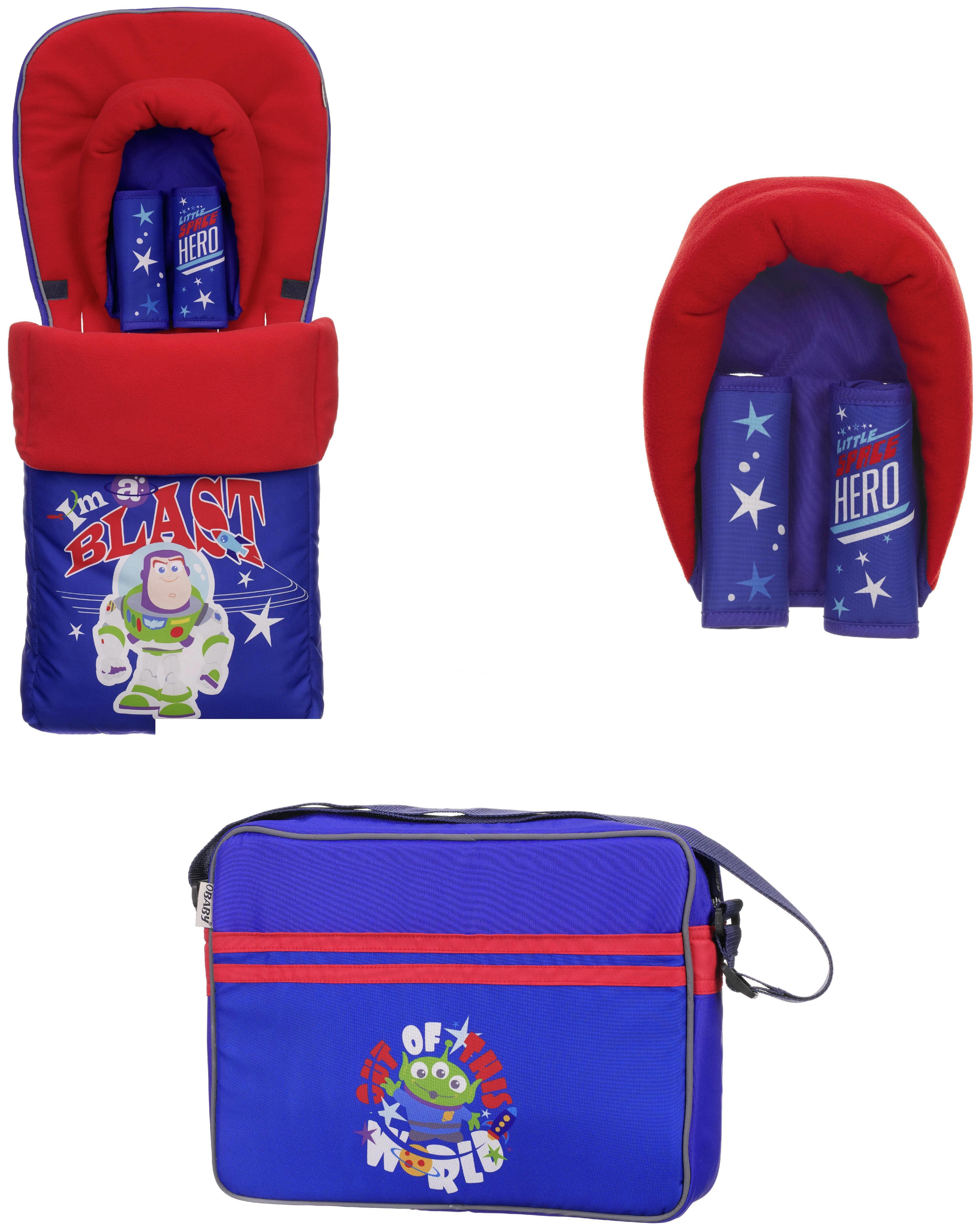 Image of Disney - Buzz Lightyear Blue Pushchair Accessories Bundle