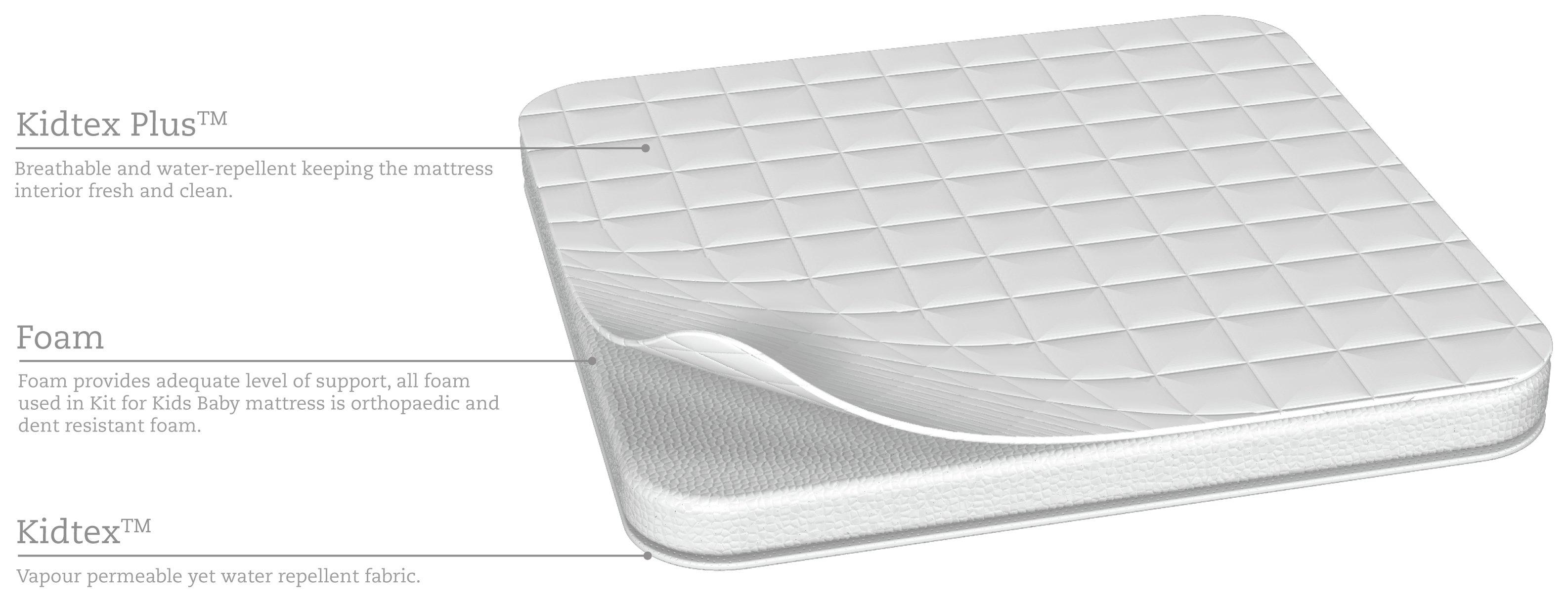 mattress kids. kit for kids kidtex folding travel cot mattress m