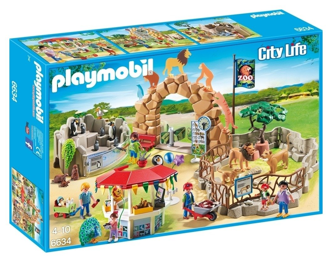 playmobil 6634 city life large city zoo.