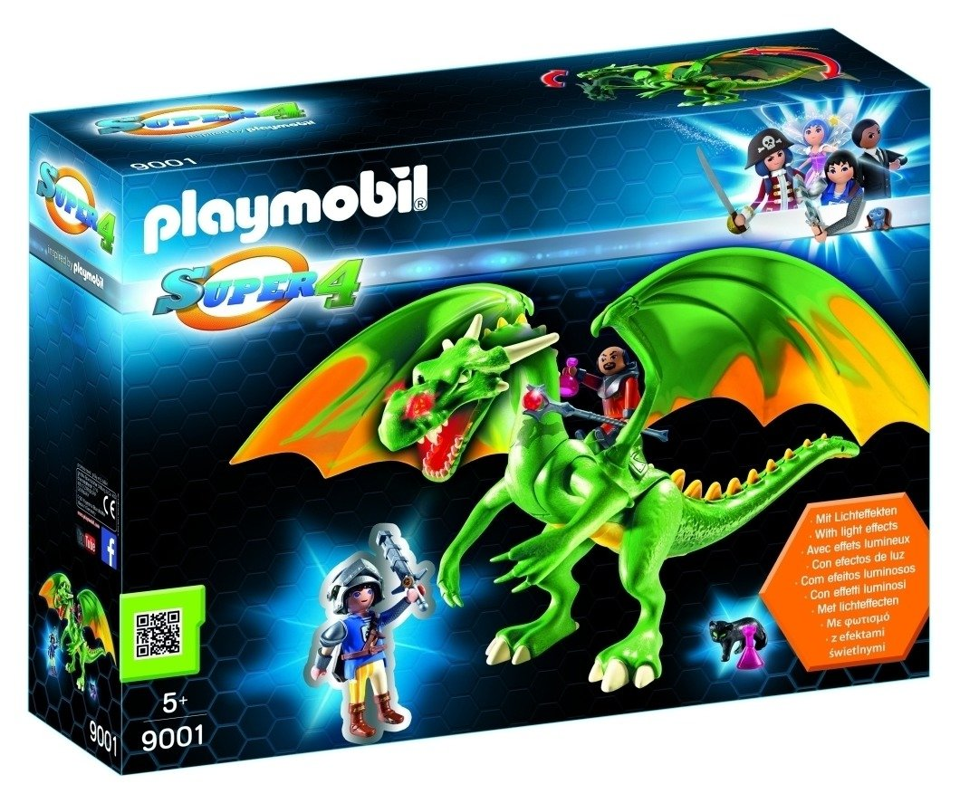 Playmobil 9001 Super 4 Kingsland Dragon With Alex