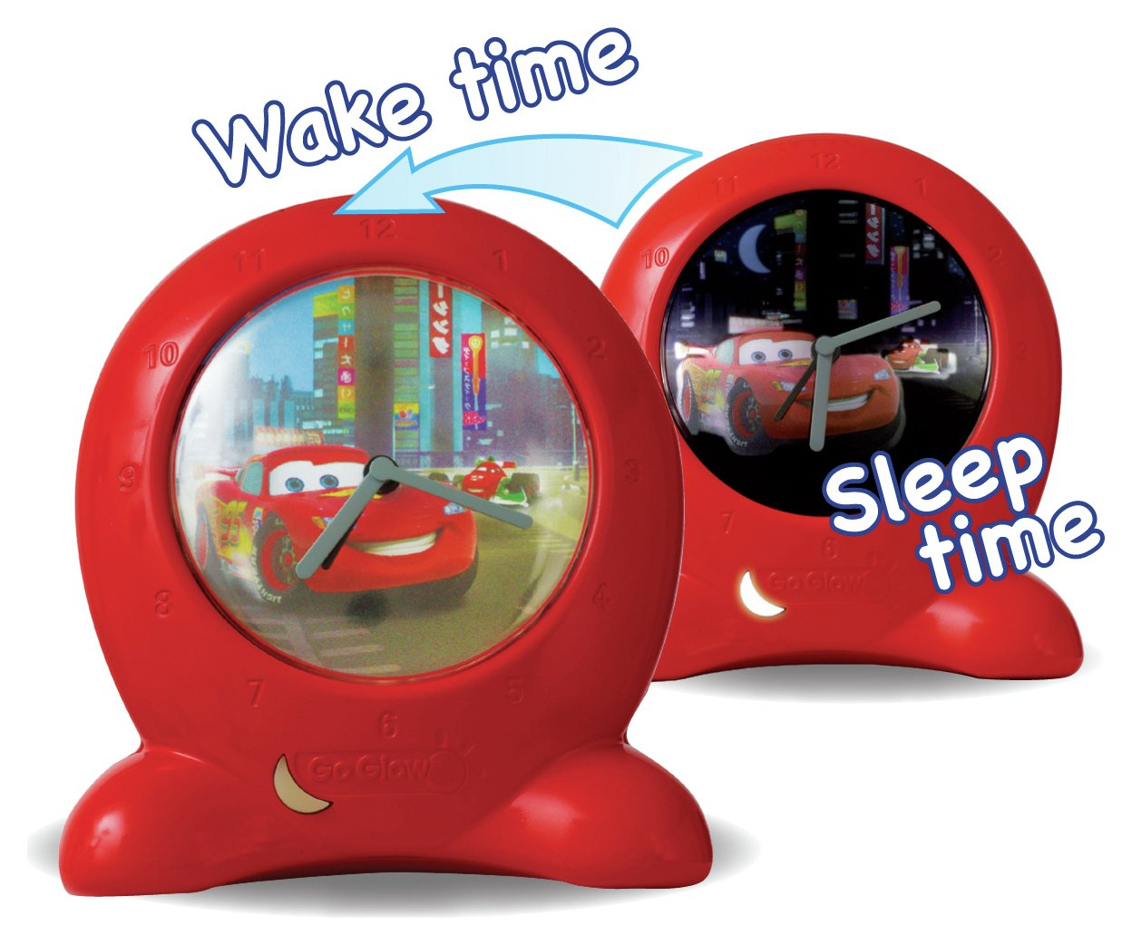 disney  cars get up n glow nightlight and  bed time trainer