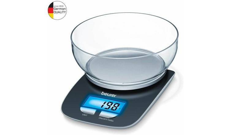 Beurer KS25 Electronic Kitchen Scale and Bowl - Black