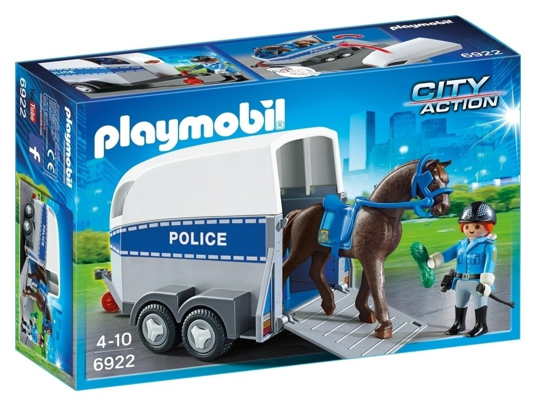 Playmobil 6922 City Action Police with Horse and Trailer.