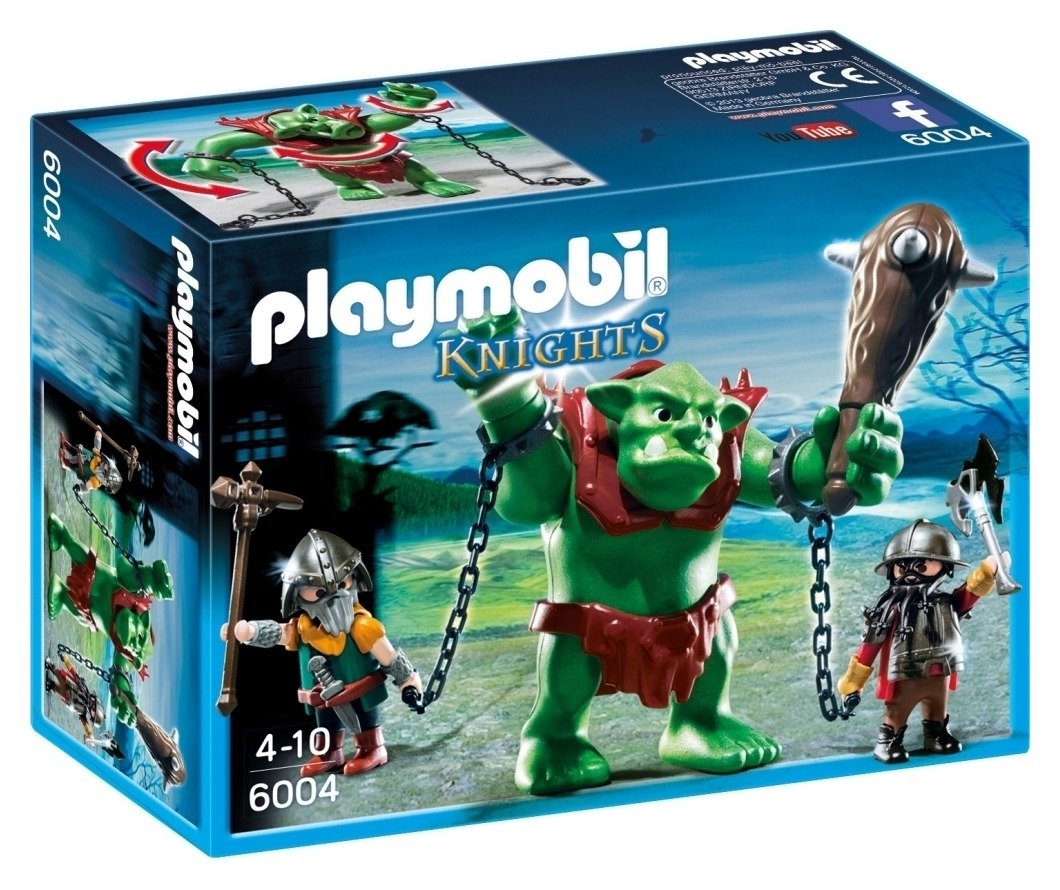 Playmobil 6004 Knights Giant Troll With Dwarf Fighters.
