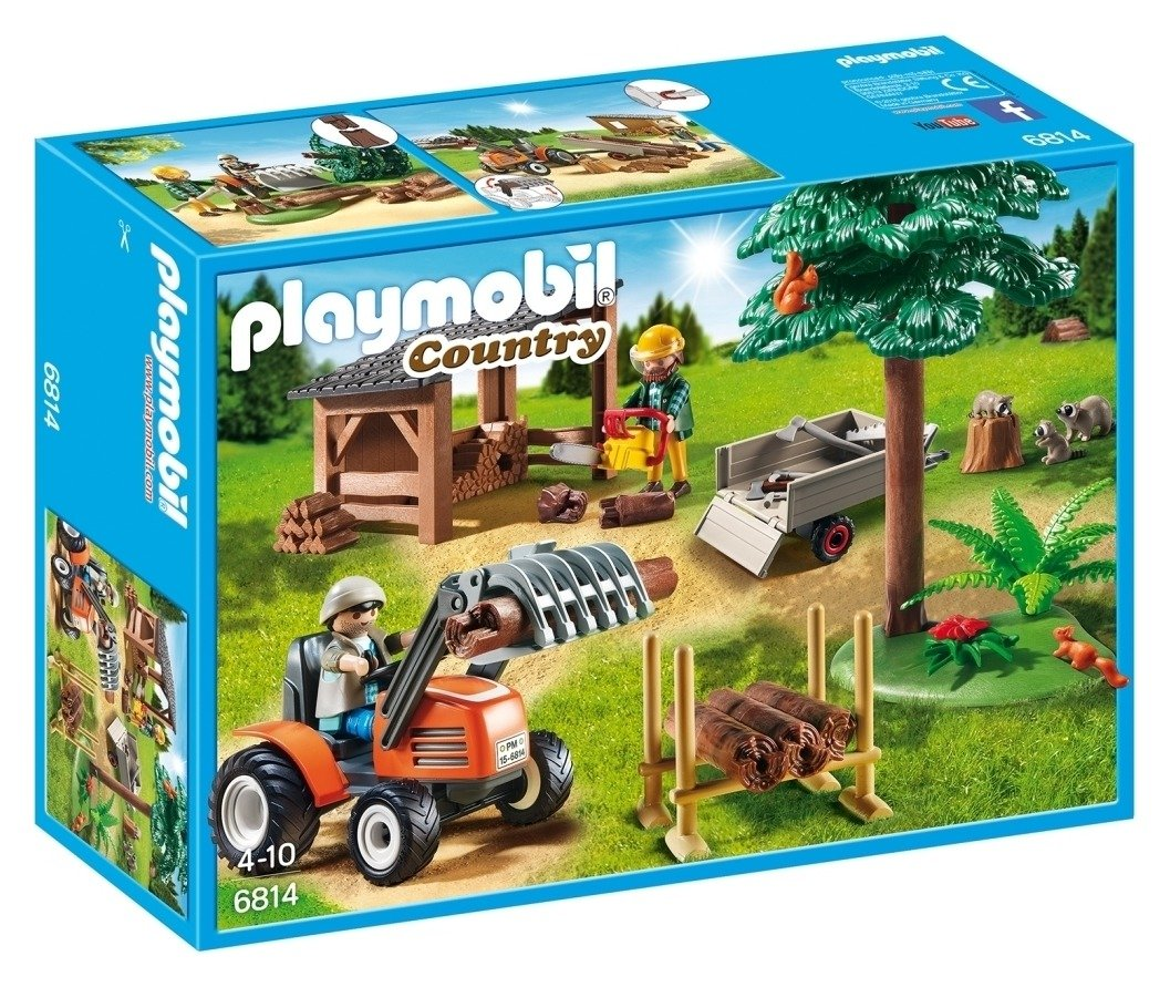 Playmobil 6814 Country Lumber Yard with Tractor.