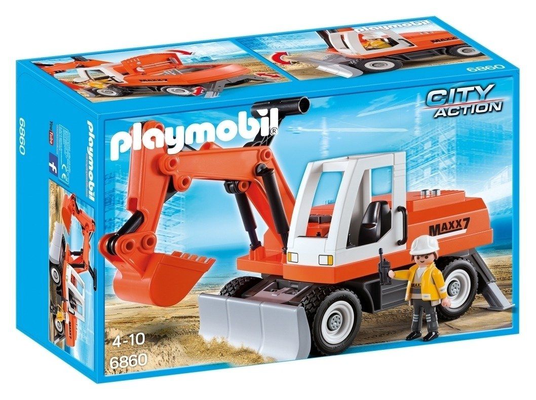 Playmobil 6860 City Action Rubble Excavator.