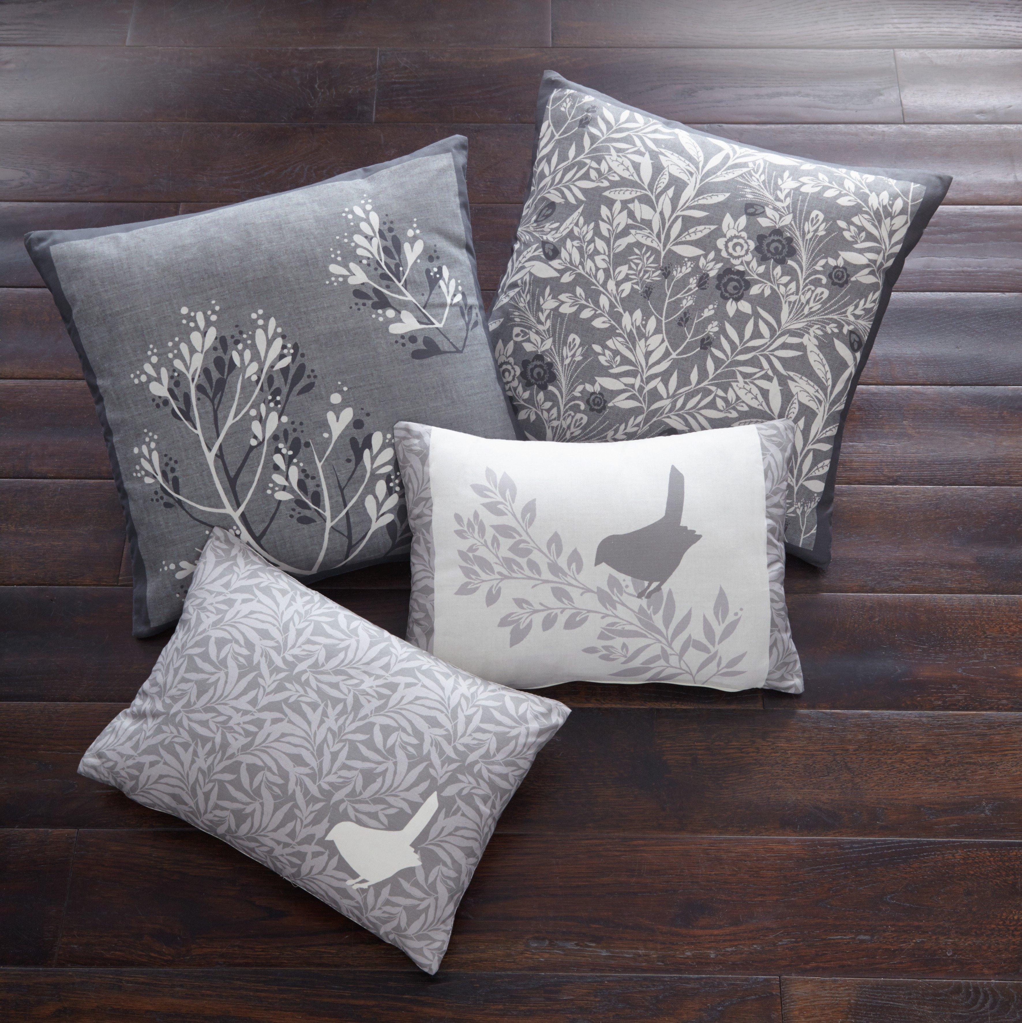 Image of Dreams N Drapes Hanworth Cushion 43x43cm - Charcoal.