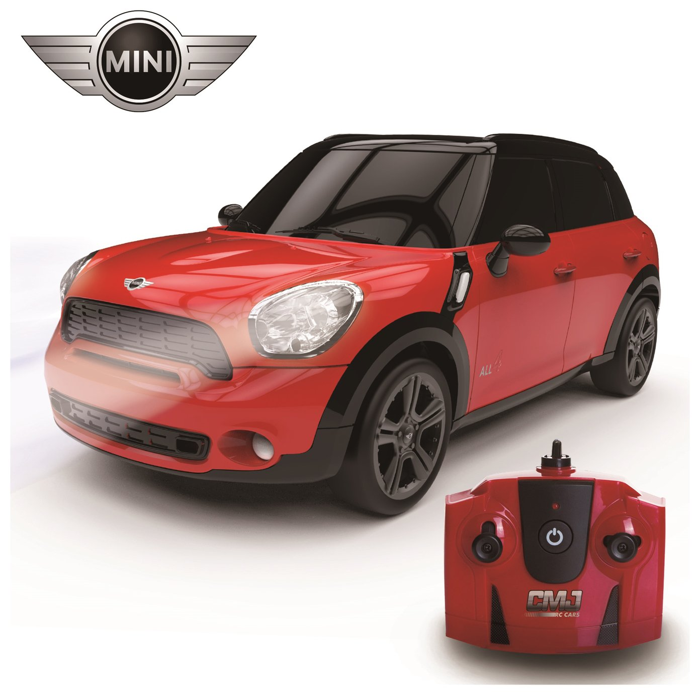 Mini Countryman JCW Remote Control Car 1:24 Red 2.4Ghz